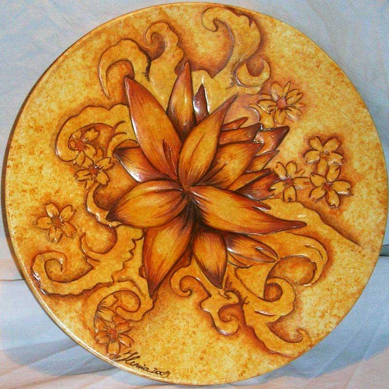Pittura su ceramica arte decorazioni e oggettistica for Decorazioni piatti