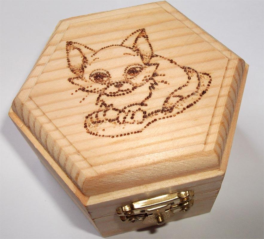 Ben noto Pirografia su legno: artigianato artistico AO35