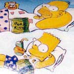 Pittura acrilica su legno - The Simpsons - cod#PL-A7