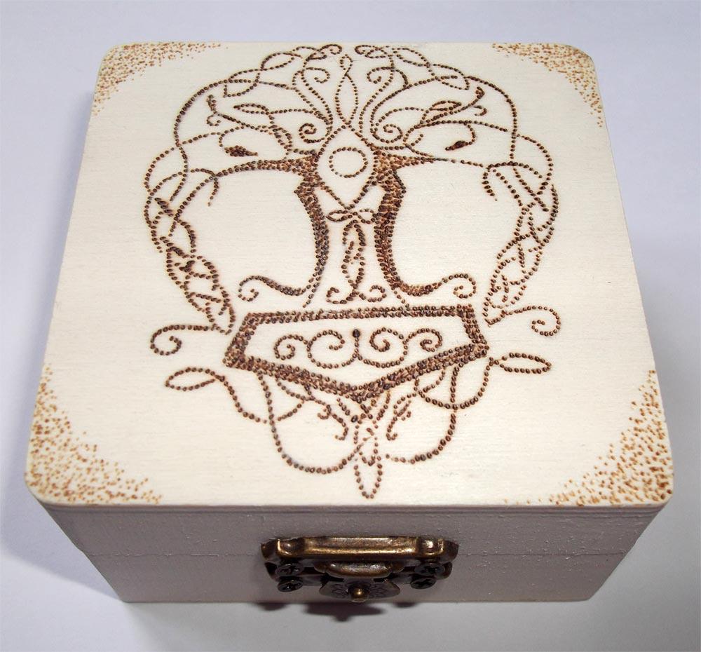 Molto Pirografia su legno: artigianato artistico HN27