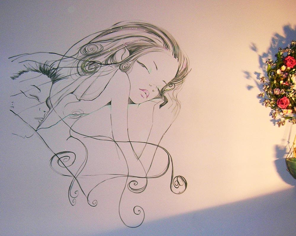 Decorazione d 39 interni a roma realizzazione murales disney fantasy o artistici per camerette - Decorazioni per pareti interne ...
