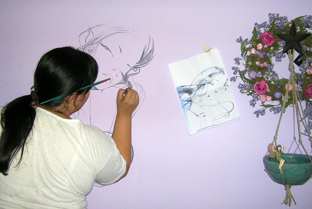 Decorazione d 39 interni a roma realizzazione murales disney for Decorazioni in polistirolo per interni