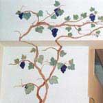 Decorazioni murali - Uva fragola in cucina - cod#PM-A3