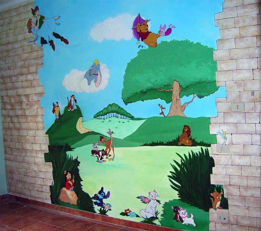 Decorazioni camerette bambini disney cameretta with - Decorazioni muri camerette bambini ...