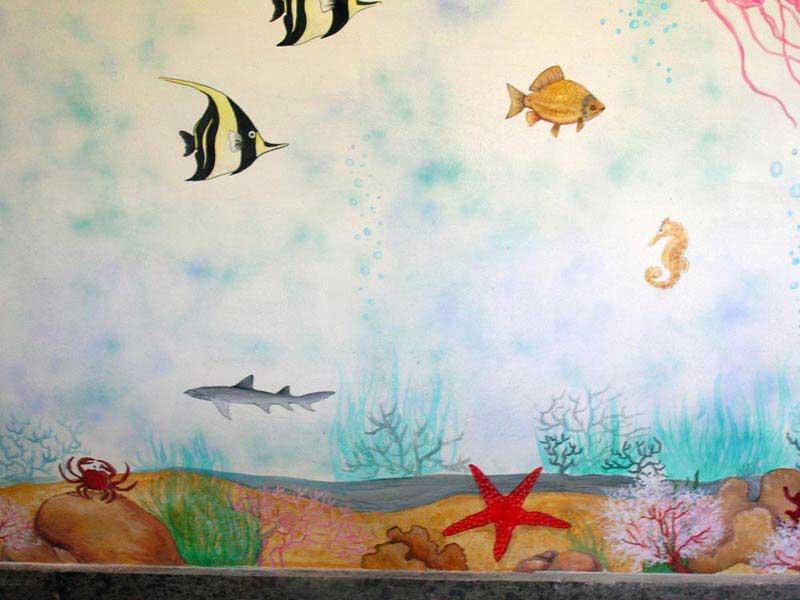 Decorazione d 39 interni a roma realizzazione murales disney fantasy o artistici per camerette - Pittura pareti interne ...