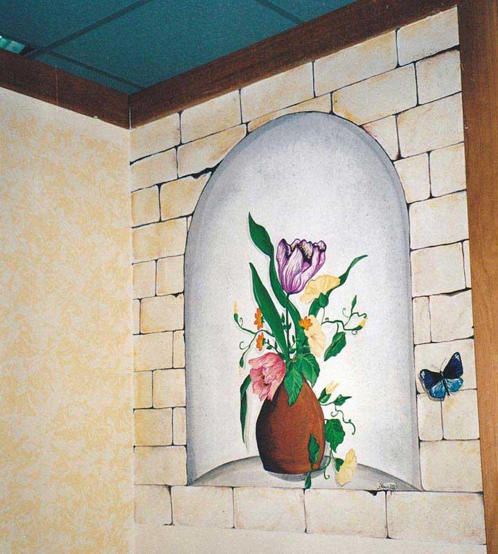 Decorazione negozi a roma murales su serrande graffiti for Tavole colori per pareti