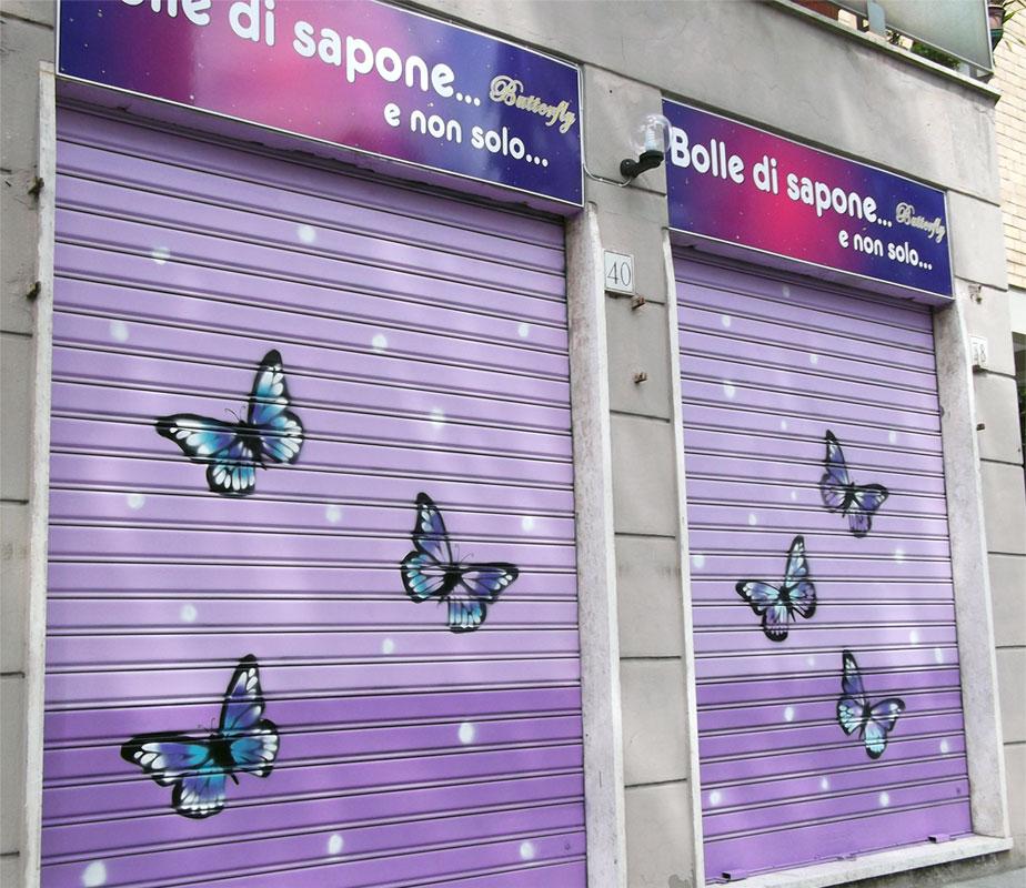 Eccezionale Decorazione negozi a Roma, murales su serrande, graffiti serranda  UI55