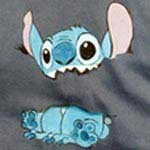 T-shirt Disney: Stitch - Su fondo grigio - cod#PS-E8